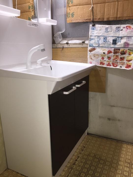 広島市安佐南区 洗面台交換 蛇口水漏れ