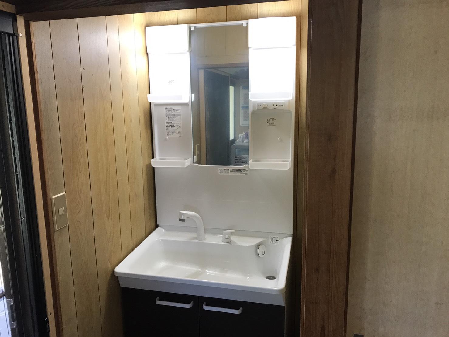 大竹市 洗面台交換 水道修理