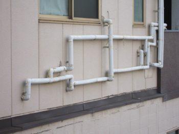呉市焼山東 水まわり 給水管 保温材