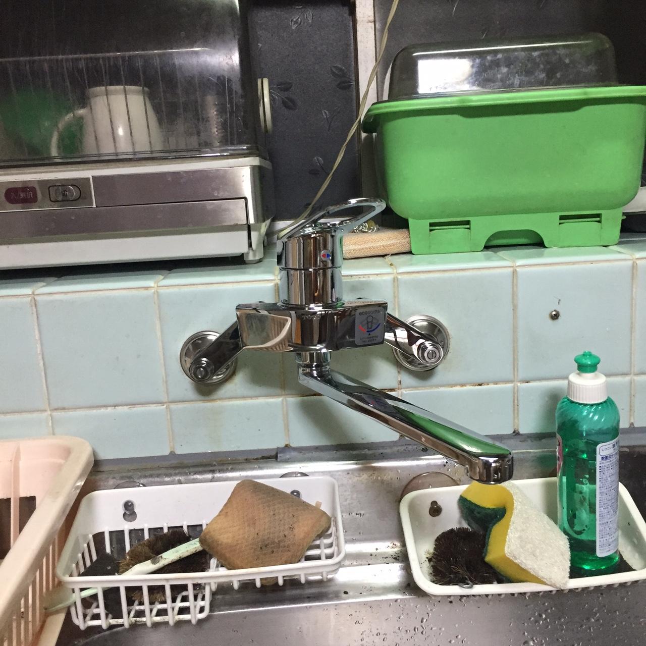呉市望地町 台所蛇口水漏れ 修理