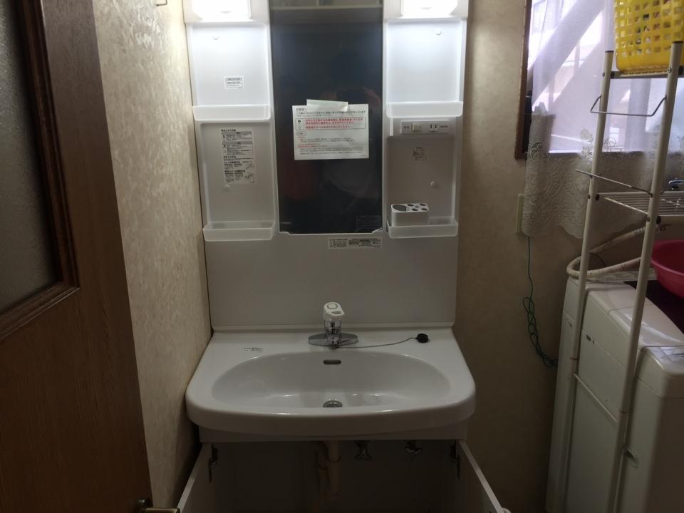 広島市安佐北区可部南 洗面台交換 洗面蛇口水漏れ