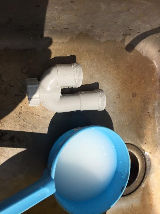 広島市安佐北区可部町南原 洗面排水つまり 薬品洗浄