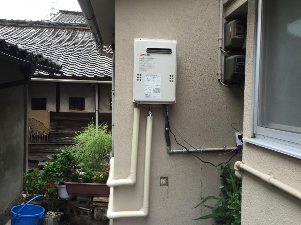 呉市東中央 ガス給湯器取り付け 呉のリフォーム