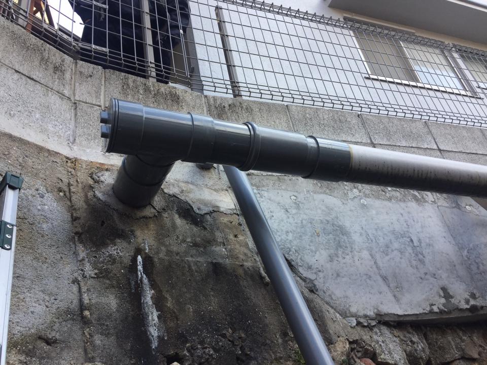 呉市宮原 排水管破損 修理