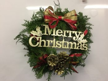 呉市 クリスマス リース 手作り ハンドメイド