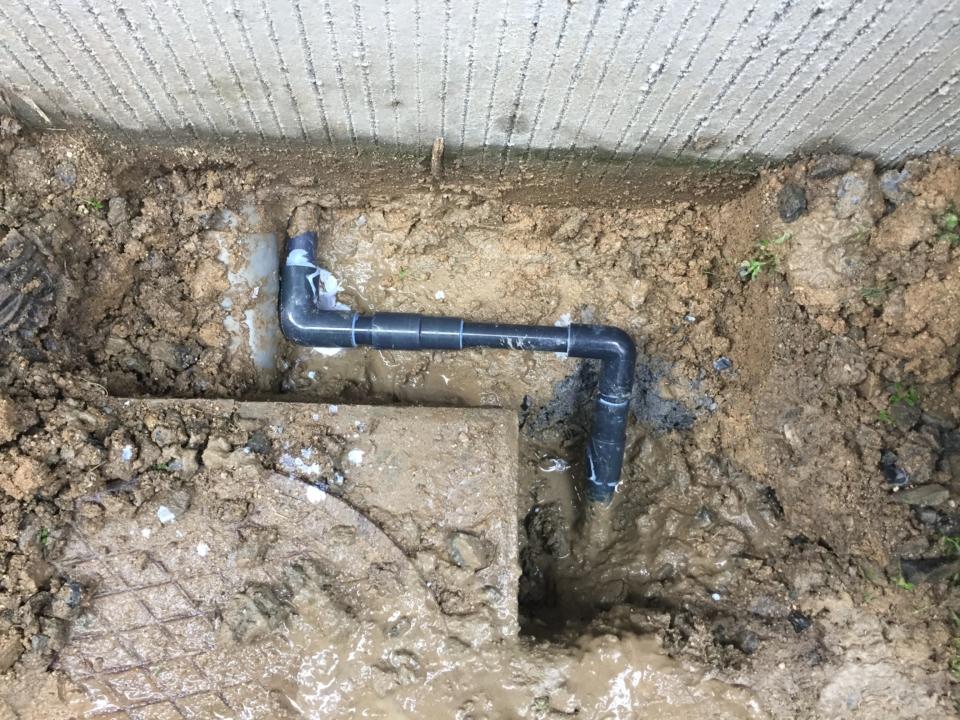 佐伯区八幡東 給水管補修