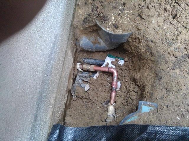 安佐北区口田南 給湯管漏水修理