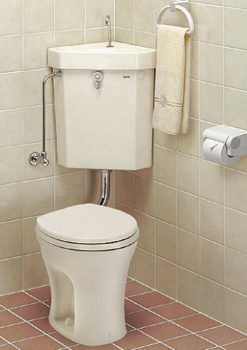 隅付きトイレ