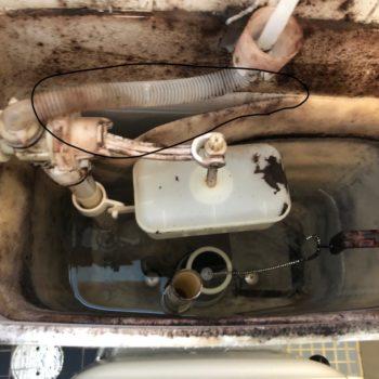トイレタンク内部 膨らんだ発泡スチロール