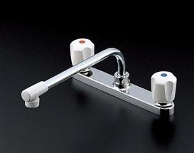 デッキ式ツーバルブ混合水栓 キッチン用蛇口