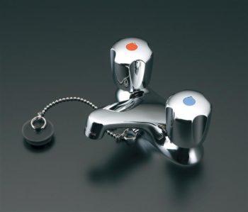 洗面用蛇口 ツーバルブ混合水栓