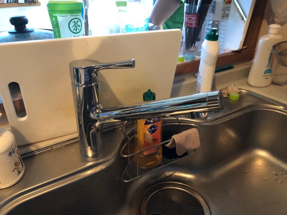 安佐北区可部 台所蛇口交換 キッチン水栓交換