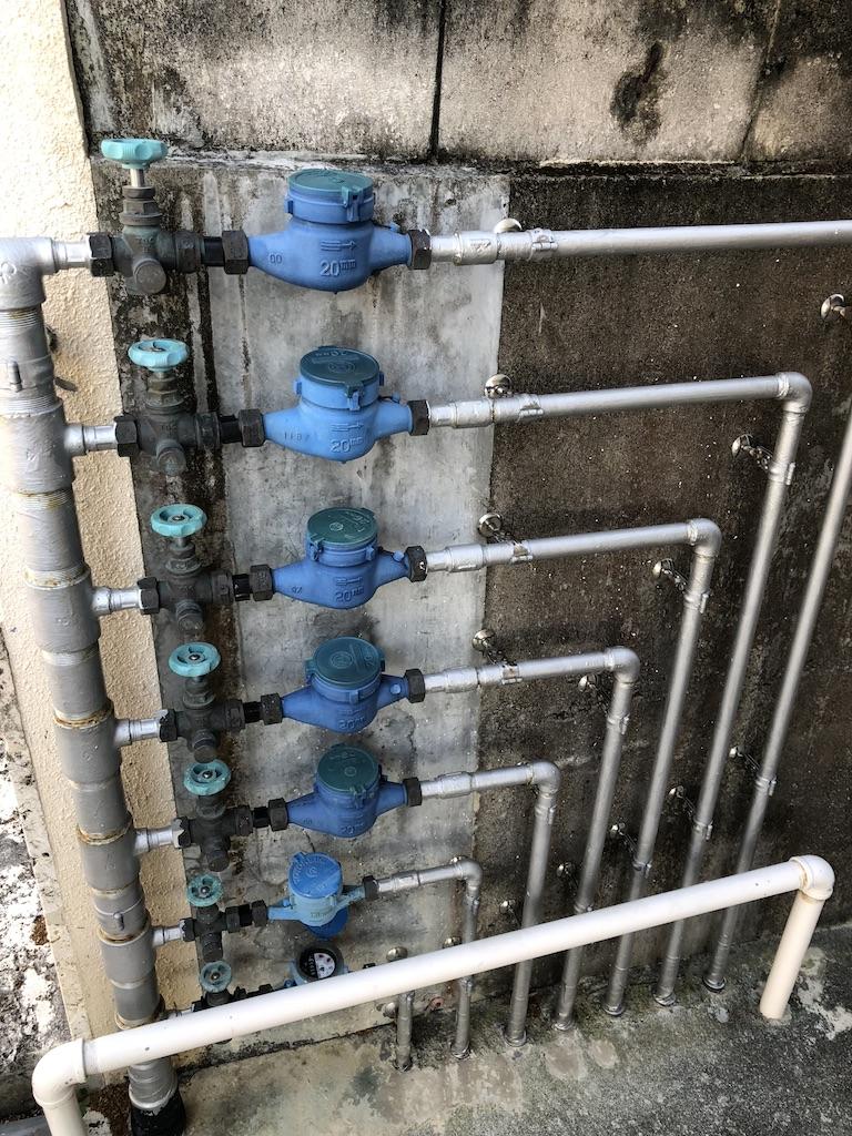 沖縄の水道メーター