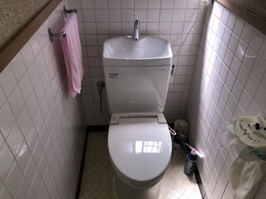 トイレ水漏れ修理 便器交換後