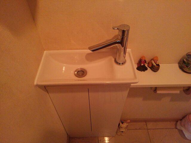 トイレ手洗い水栓交換後