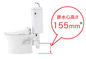 トイレ設備交換リフォームの注意点 | 排水芯について