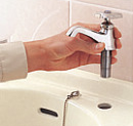 台付き用自動水栓交換前 立水栓