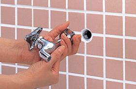 自動水栓交換前の単水栓